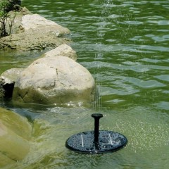 Solar Powered Water Pump Garden Fountain Pond Kit for Waterfalls Water Display