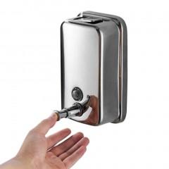 500/800/1000ML Kitchen Bathroom Wall Mounted Stainless Steel Shampoo Dispenser