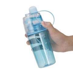 400ml Summer Sport Outdoors Portable Large Capacity Spray Water Bottle