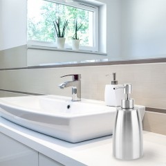 Stainless steel Liquid Pump Soap Lotion Dispenser Hand Sanitizer Bottle