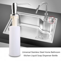 Universal Stainless Steel Home Bathroom Kitchen Liquid Soap Dispenser Bottle