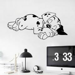 Kawaii Cute Sleeping Dog Wall Sticker Removable PVC Bedroom Decals Wallpaper