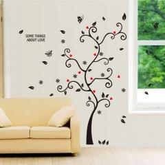 Creative Tree Wall Decal Sticker Removable Mural PVC Home Art Decor DIY black 60*45cm