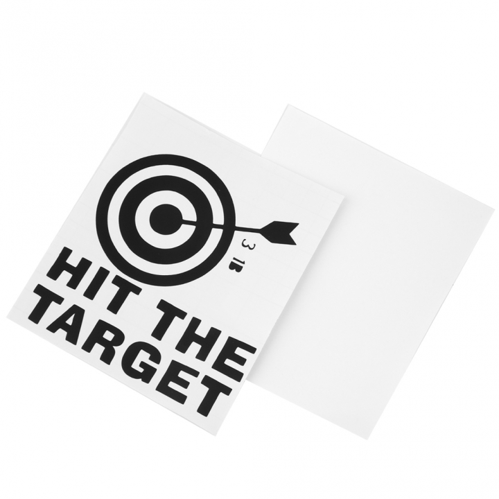 HIT THE TARGET DIY Toilet Seats Art Wall Stickers Quote Bathroom Decal