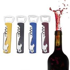 Multifunctional Wine Opener Stainless Steel Beer Opener Home Kitchen Tool random color Folded Size: 121*34*11mm,Open Length: 170mm