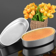 Kitchen Accessory Oval Shape Aluminum Alloy Cake Mold Cheese Tool Mold