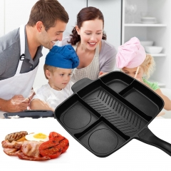 Five In One Multi-purpose Separation Pot Fryer Pan Non-Stick Grill Fry Oven
