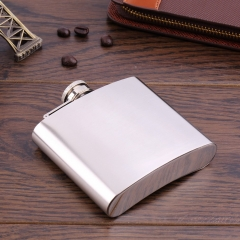 New Mini Portable 5oz Stainless Steel Alcohol Whiskey Wine Pot Flagon Flask Silver approx. 92mm x 21mm x 83mm