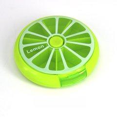 Fruit Shape Mini Medicine Pill Box 7 Days Weekly Travel Medicine Holder green