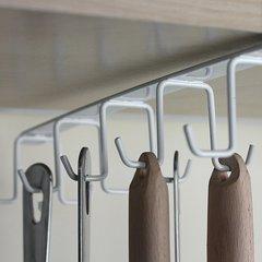 Iron Kitchen Hanger Kitchen Cabinet Double-row Alete Hanger Kitchen Supplies
