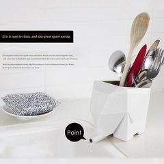 Innovative Geometry Cute Elephant Shape Tableware Draining Device Flower Disc
