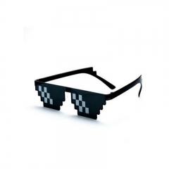 Deal With It Thug Life Glasses Meme MLG Shades 8 Bit pixelated Unisex Sunglasses black onesize