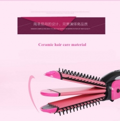 3 in 1  Curling Irons Straightening Corrugation Board Curling Styling Tools Fries Hair Curlers red onesize
