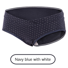 Pregnant women thong breastfeeding underwear low waist lift underwear cotton underwear blue M