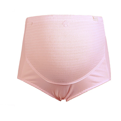 Cotton maternity underwear suitable for pregnant women underwear high waist abdominal care underwear pink 3XL