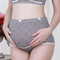 Cotton maternity underwear suitable for pregnant women underwear high waist abdominal care underwear black XL