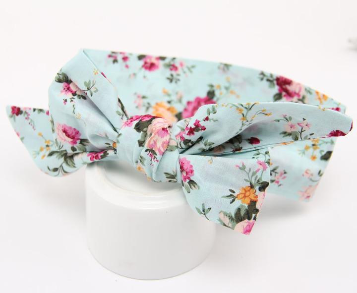 Bow Girl Floral Dot Hairband Headband Accessories Faixa Cabelo Para Bebe Headwear Baby Girl B