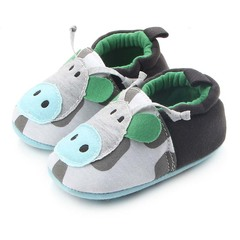 Fashion Cartoon Warm Knitted Fabric Soft Sole Non-slip Soft Leather Baby Shoes First Walker a 11cm