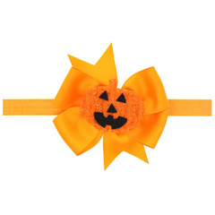 Fashion Magic Christmas Halloween Party Kids Santa Antler Pumpkin Headband Accessories yellow-A one size