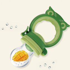 Portable baby silicone pacifier chain baby pacifier feeder food feeding supplies pacifier pacifier green one size