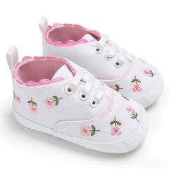 Baby girl shoes white lace floral embroidery soft shoes walker walking toddler kids shoes white 11cm