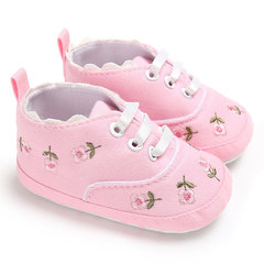 Baby girl shoes white lace floral embroidery soft shoes walker walking toddler kids shoes pink 11cm