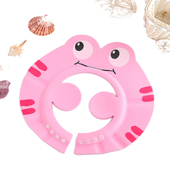 Cartoon children's elastic shampoo hat shampoo shower gel shower cap adjustable sunhat pink one size