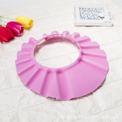 Baby soft stretch shampoo shower gel shampoo cap children bathing shower cap multifunction pink one size