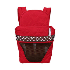 Multifunctional children's breathable bracket 3-36 months baby carrier bag backpack bag front strap red onesize