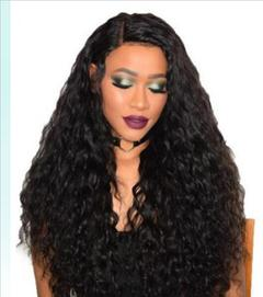 Fashion mature fluffy corn hot wig small curly rose net lady wig real scalp black one size