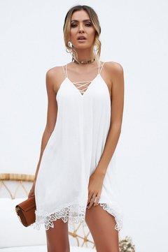 Women's Europe and America Hot style/Faddis V neck Dress sexy Nylon lace Skirt Whiteness s