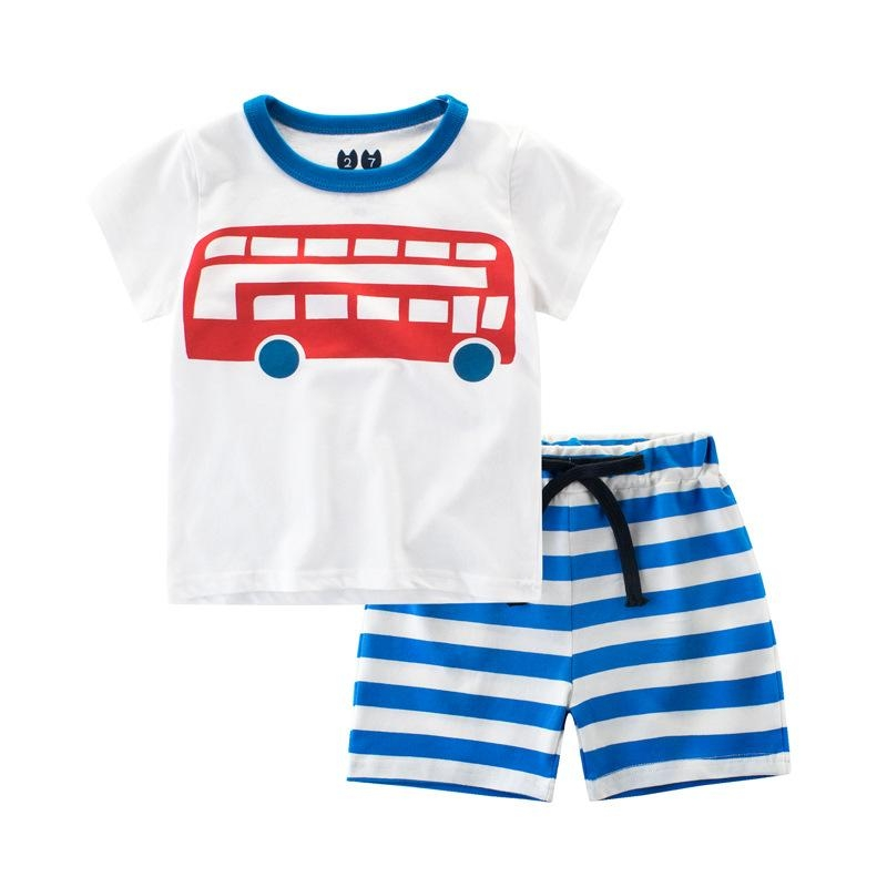 7323277b6 Kilimall  2018 New Children Clothing Boys Suits Cartoon Summer Boys ...