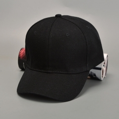 Spandex Elastic Fitted Hats Sunscreen Baseball Cap Men&Women Sport - seven colors black one size