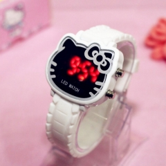 Watch LED For Kids Girl Gift Hello Kitty Watch White