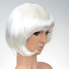 Synthetic Wigs Hair Wigs Women's  Short  Wigs Fashion Wigs White only one size