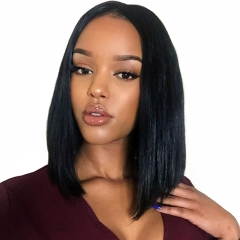 New Fashion Synthetic Wig Female Short Straight,shoulder-length Black , brown,Light brown,Straight Natural black 45CM(17.7inches)