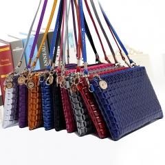 Ladies Shoulder Bag,Mobile Phone Bag,Handbags Black 21*13*2CM(8.27*5.12*0.79inches)
