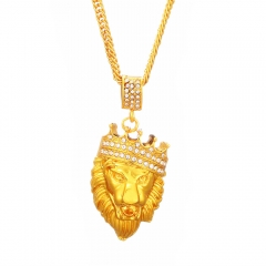 Lady Necklace,Gold Necklace,Lion King Necklace a color chain length 45cm(17.72inches)