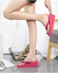 Ladies Fashion Flip Flops,Slipper, Rose Red 2 European size 34