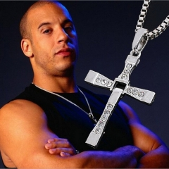 Male Fashion Movie jewelry The Fast and The Furious Toretto Men Pendant Necklace Silver Only one size.