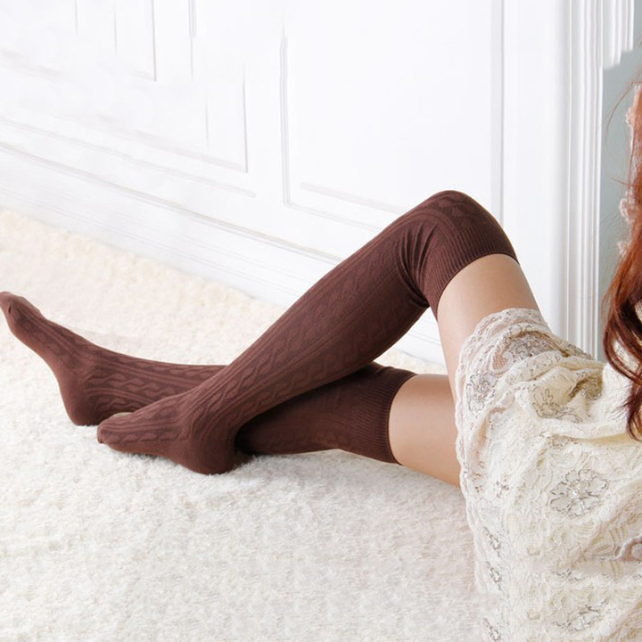 b1a85b0cef4 Sexy Warm Thigh High Over The Knee Socks Long Cotton Stockings For Girls  Lady Women Sexy