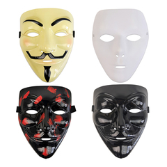 V for Vendetta Mask Anonymous Guy Fawkes Fancy Dress fantasy Costume Cosplay Black 20*17CM