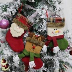 Christmas Stockings Santa Claus Sock Gift Kids Candy Bag Christmas Tree Ornament Reindeer 1 10.5*19*12.5cm
