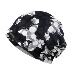 Casual Style Breathable Stretch Hollow Out Sun Hat Head Wear for Women Black