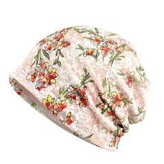Women Lace Floral Casual Cap Summer Sun Hat Head Wear beige