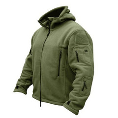 Jacket Military Tactical Men Polartec Thermal Polar Hooded Outerwear Coat Army Clothes Winter Coat Army Green S