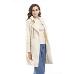 Women Turn Down Collar Casual Coat Solid Tracksuit Female Plus Velvet Thick Plus Female Overcoat Black S