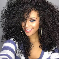 New Fashion Synthetic Wigs Hair Wigs Women's Wigs Hair Curly 20inch black 20inch black 20inches