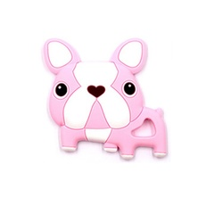 20pcs Newborn Baby Teething Toys BPA Free Soft Silicone Cartoon Teethers Pacifier Clip Chew Toys Pink 4*4*4cm(1.575in)