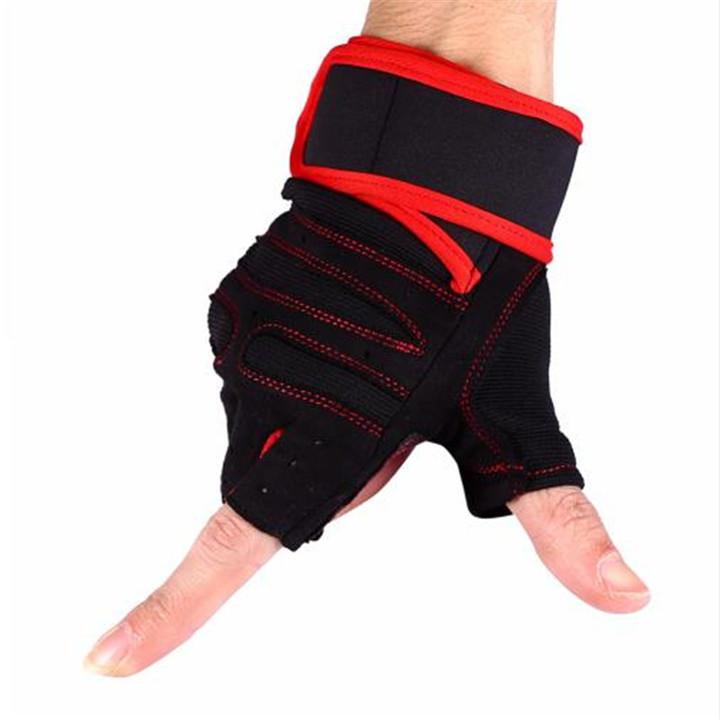 Gym Gloves Weight Lifting Glove Half Finger Anti-skid Gym Training Fitness Gloves Sports Gym Gloves Red M
